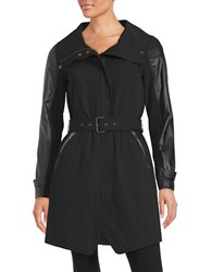 7 For All Mankind Belted Anorak Jacket Black