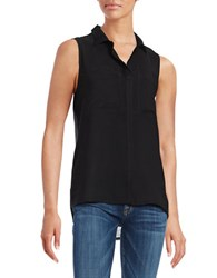 Calvin Klein Jeans Sleeveless Colorblocked Top Black