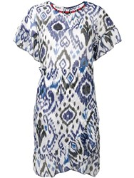 Bazar Deluxe Aztec Print Dress Blue