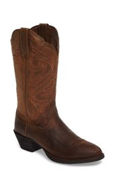 Ariat Women's Round Up R Toe Western Boot Dark Toffee Leather