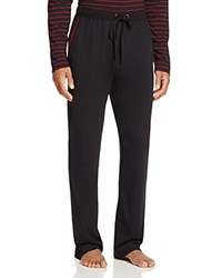 Daniel Buchler Pima Cotton Blend Lounge Pants Black With Red