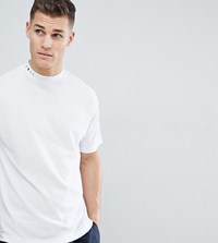 Noak T Shirt With High Neck And Drop Shoulder In White
