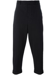 Ami Alexandre Mattiussi Oversize Carrot Fit Trousers Black
