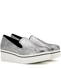 Stella Mccartney Binx Platform Loafers Silver