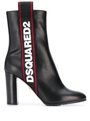 Dsquared2 Logo Ankle Boots Black