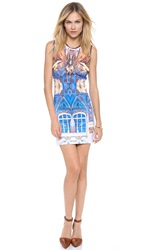 Clover Canyon Pegasus Sleeveless Neoprene Dress Multi