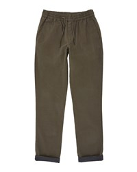 Ted Baker Men's Mangal Classic Fit Drawstring Chinos Olive