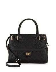 Calvin Klein Quilted Leather Satchel Black