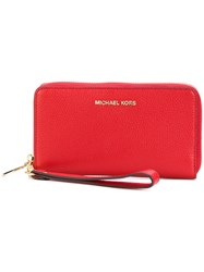 Michael Michael Kors Continental Mercer Wallet Women Leather One Size Red