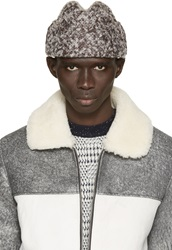 Pigalle Brown And White Boucla Mohair Soyouz Hat