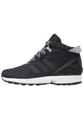 Adidas Originals Zx Flux 5 8 Hightop Trainers Core Black Solid Grey Vintage White