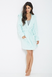 Forever 21 Plush Self Tie Robe Mint