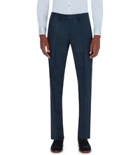 Ted Baker Slim Fit Wool Blend Trousers Teal