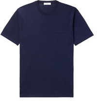 Mr P. Knitted Cotton T Shirt Blue