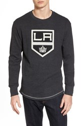 American Needle 'S Los Angeles Kings Embroidered Long Sleeve Thermal Shirt Black