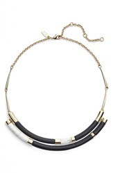 Women's Alexis Bittar 'Lucite' Colorblock Crescent Bib Necklace Black