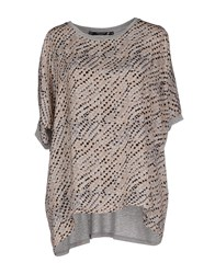 Cristinaeffe Collection Topwear T Shirts Women Light Brown