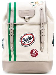 Bally Alpina Backpack Men Cotton One Size Nude Neutrals