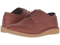 Toms Brogue Brown Full Grain Leather Men's Lace Up Casual Shoes