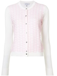 Carven Embroidered Cardigan Women Nylon Polyester Viscose S Pink Purple