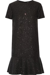 Brunello Cucinelli Sequin Embellished Cashmere And Silk Blend Dress Gray