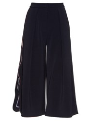 Roksanda Ilincic Towan Wave Edged Culottes Navy