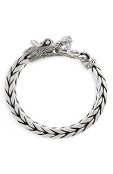 John Hardy Men's Legends Naga Dragon Head Bracelet Silver