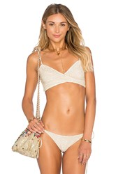 Beach Riot X Revolve X A Bikini A Day Belle Top Metallic Gold
