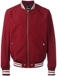 Diesel Zip Up Bomber Jacket Red