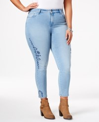 Styleandco. Style Co. Plus Size Embroidered Calabasas Wash Skinny Ankle Jeans Only At Macy's