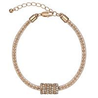 John Lewis Ball And Glass Pave Bracelet Gold