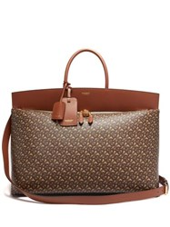 Burberry Society Extra Large Monogram Print Canvas Holdall Brown