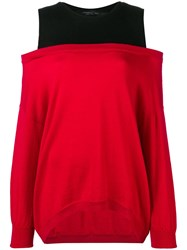 Federica Tosi Double Layer Jumper Red