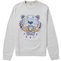 Kenzo Tiger Face Crew Sweat Grey
