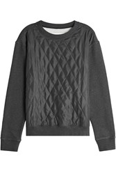 Maison Martin Margiela Sweatshirt With Quilted Silk Panel