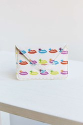 Urban Outfitters Psychedelic Icon Print Cardholder White
