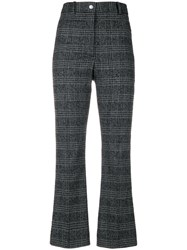 Wood Wood Plaid Cropped Trousers Polyamide Polyester Spandex Elastane Wool Grey