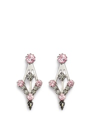 Joomi Lim 'Modern Deco' Swarovski Crystal Earrings Pink Multi Colour