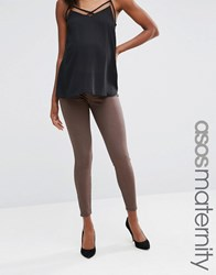 Asos Maternity Rivington Jegging In Coffee With Under The Bump Waistband Coffee Brown