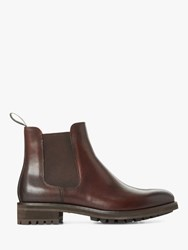 Ralph Lauren Polo Bryson Leather Chelsea Boots Polo Brown