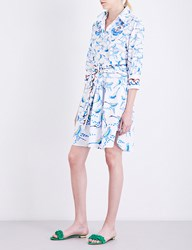 Peter Pilotto Printed Cotton Poplin Shirt Dress Bird White