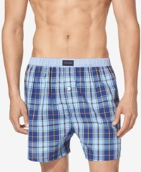 Tommy Hilfiger Men's Printed Woven Boxers Indigo