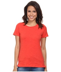 Hatley Crew Neck Tee Red Coral Women's Short Sleeve Pullover
