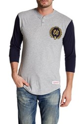 Mitchell And Ness Mnn In The Clutch Henley Shirt Multi