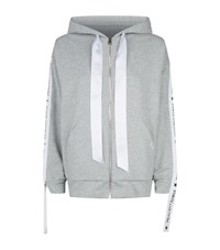Forte Couture Vivian Logo Band Zip Up Hoodie Grey