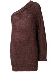 Stella Mccartney One Shoulder Sweater Brown