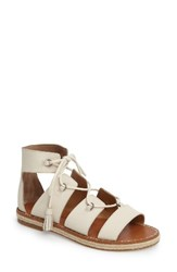 Lucky Brand Women's Dristel Gladiator Sandal Sand Shell Leather