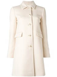Gucci Single Breasted Coat Nude Neutrals