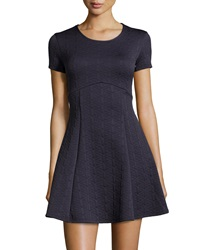 Romeo And Juliet Couture Quilted Fit And Flare Dress Navy