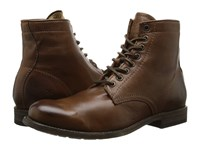 Frye Tyler Lace Up Cognac Soft Vintage Leather Men's Lace Up Boots Brown
